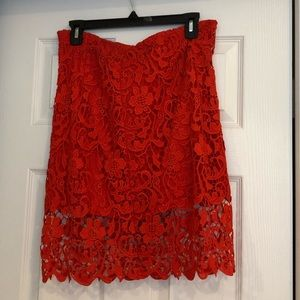 Leith crochet skirt, coral color